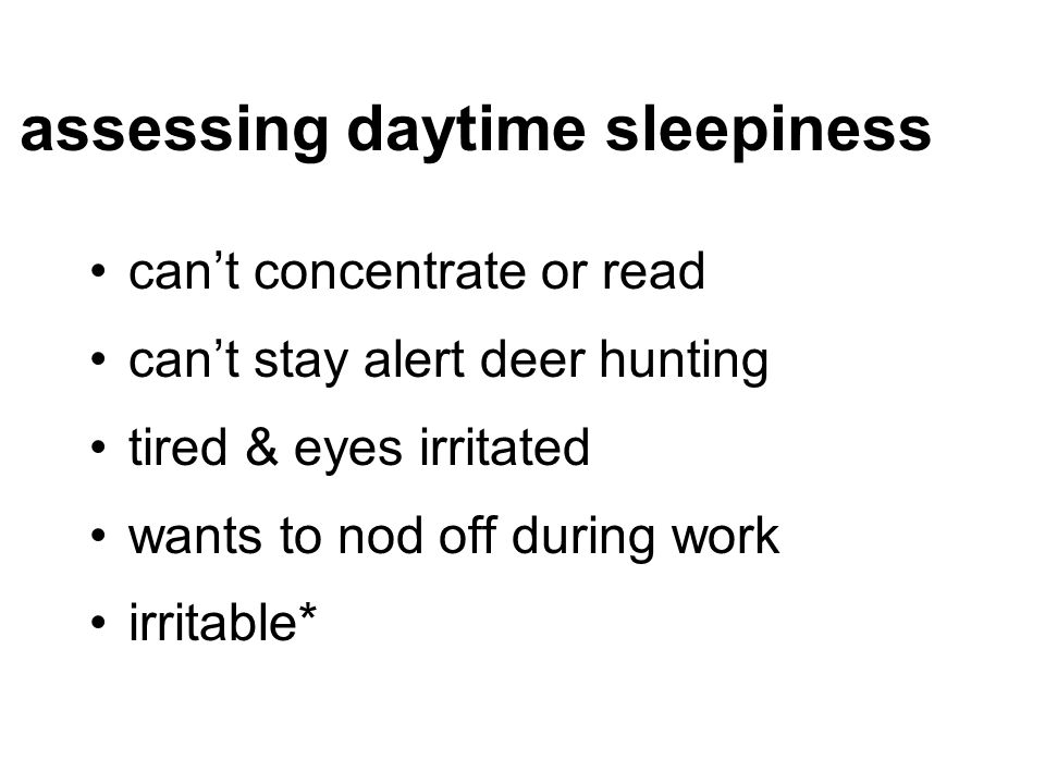 assessing daytime sleepiness