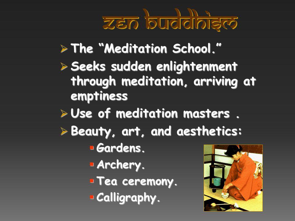 zen Buddhism The Meditation School.