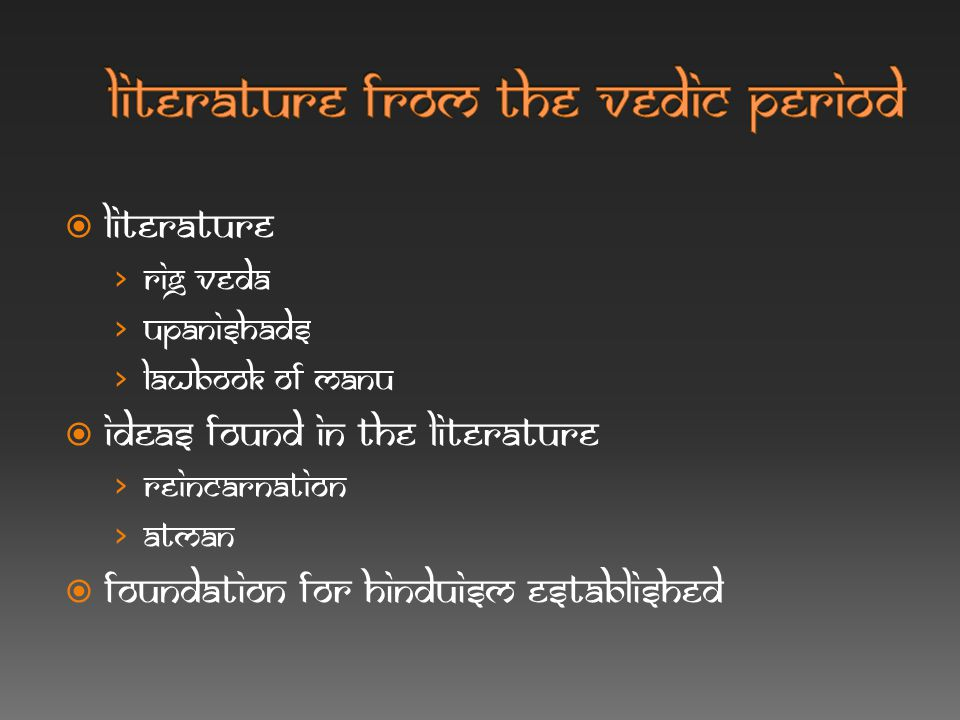 Literature from the Vedic Period