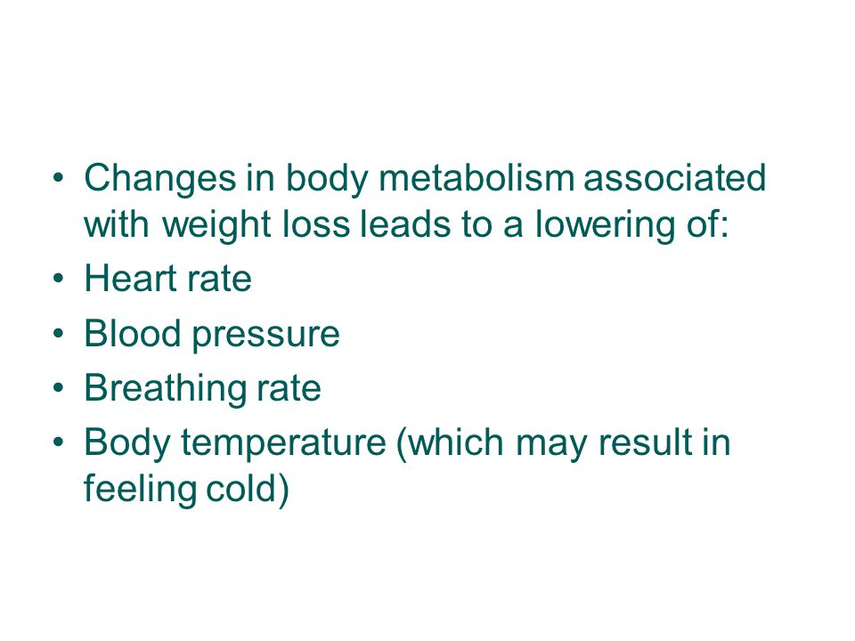 Changes in body metabolism associated with weight loss leads to a lowering of: