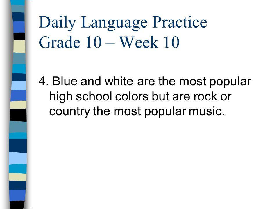 Daily Language Practice Grade 10 – Week 10