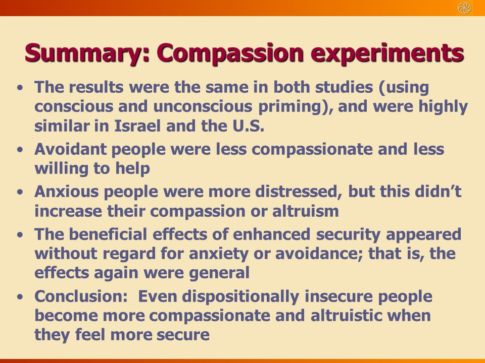 Summary: Compassion experiments