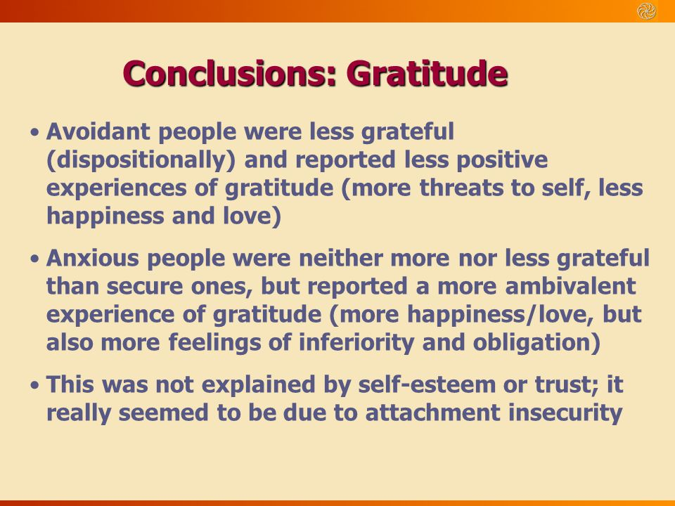 Conclusions: Gratitude