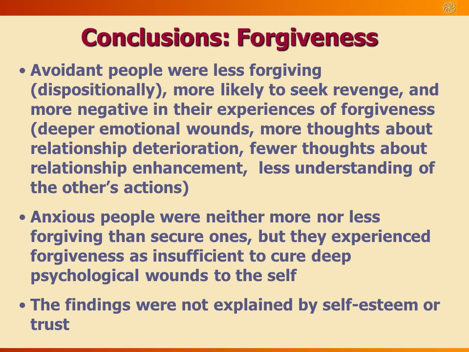 Conclusions: Forgiveness