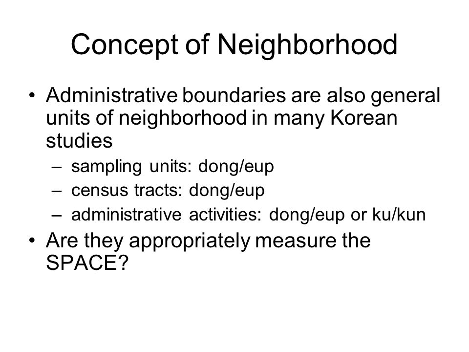 Concept of Neighborhood