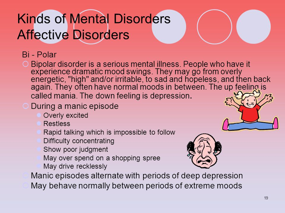 Kinds of Mental Disorders Affective Disorders
