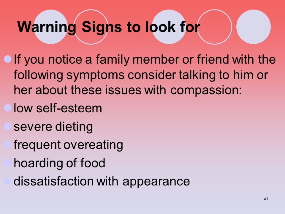 Warning Signs to look for