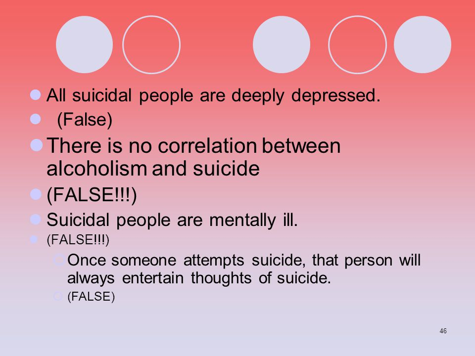 There is no correlation between alcoholism and suicide