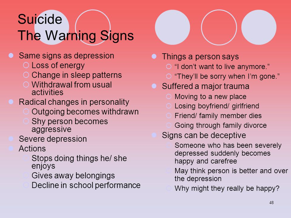 Suicide The Warning Signs