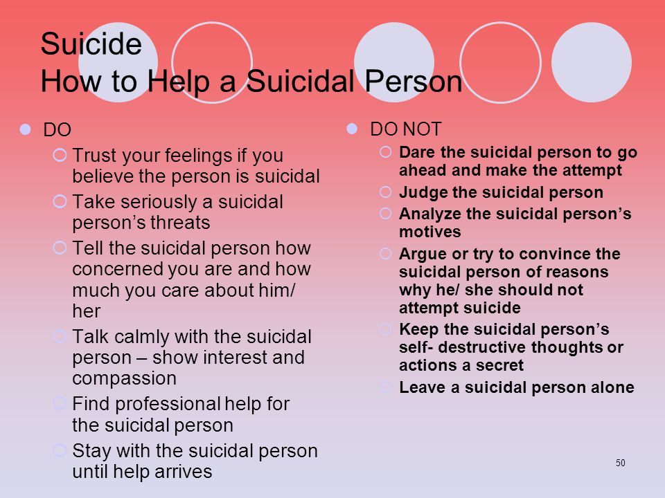 Suicide How to Help a Suicidal Person