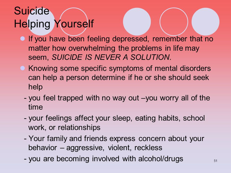 Suicide Helping Yourself
