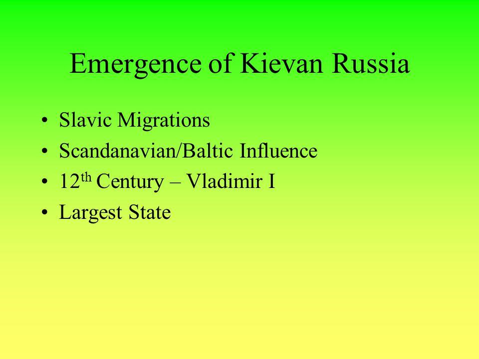 Emergence of Kievan Russia