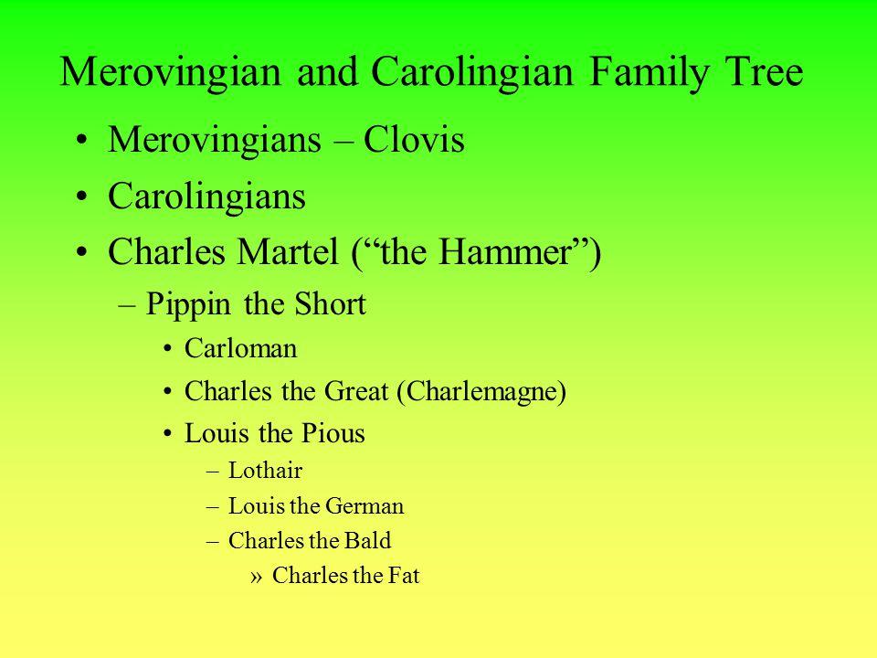 Merovingian and Carolingian Family Tree