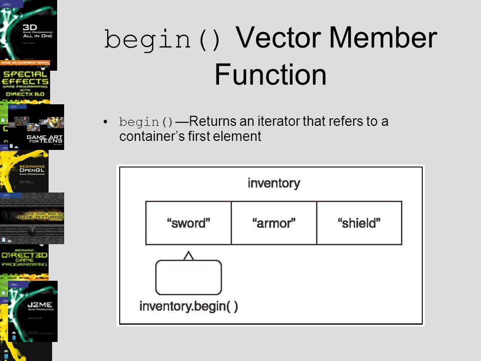 begin() Vector Member Function