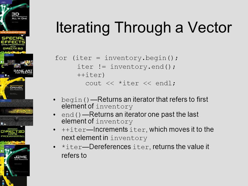 Iterating Through a Vector