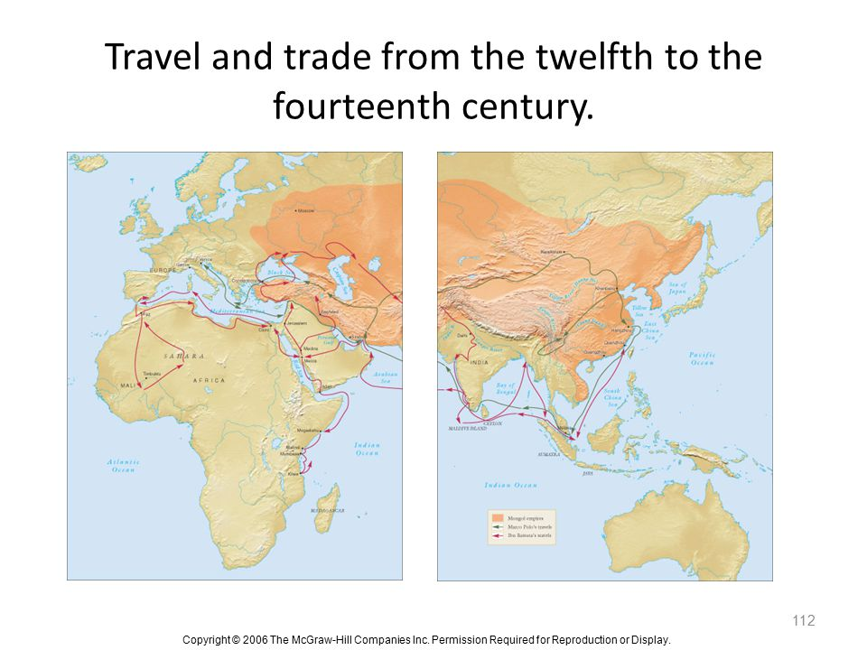 Travel and trade from the twelfth to the fourteenth century.