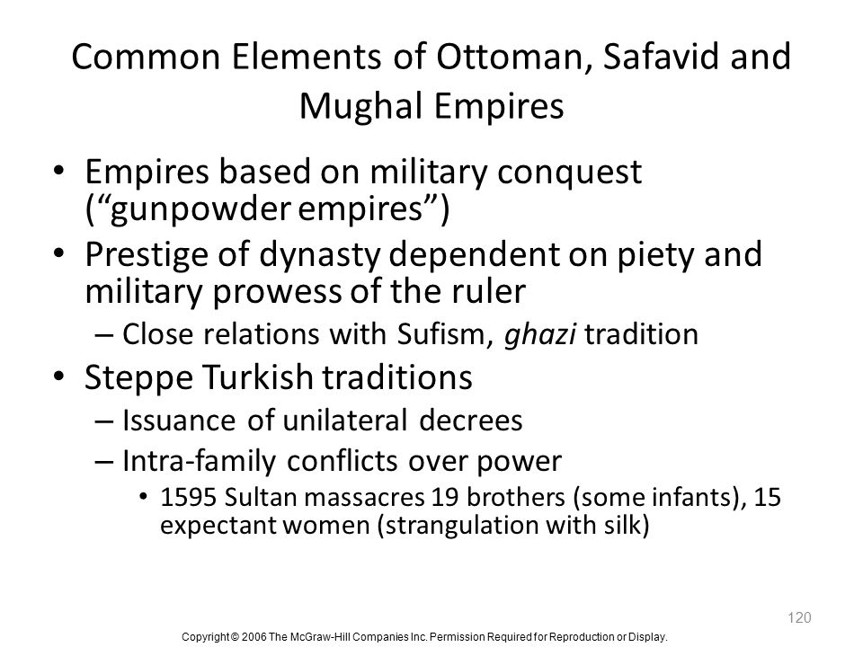 Common Elements of Ottoman, Safavid and Mughal Empires