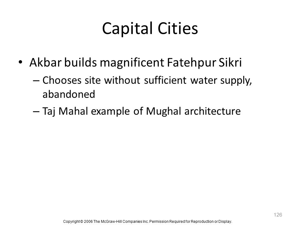 Capital Cities Akbar builds magnificent Fatehpur Sikri