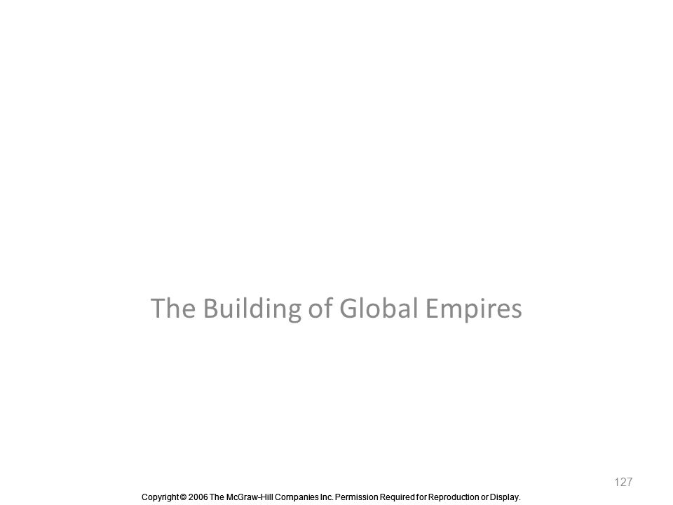 The Building of Global Empires