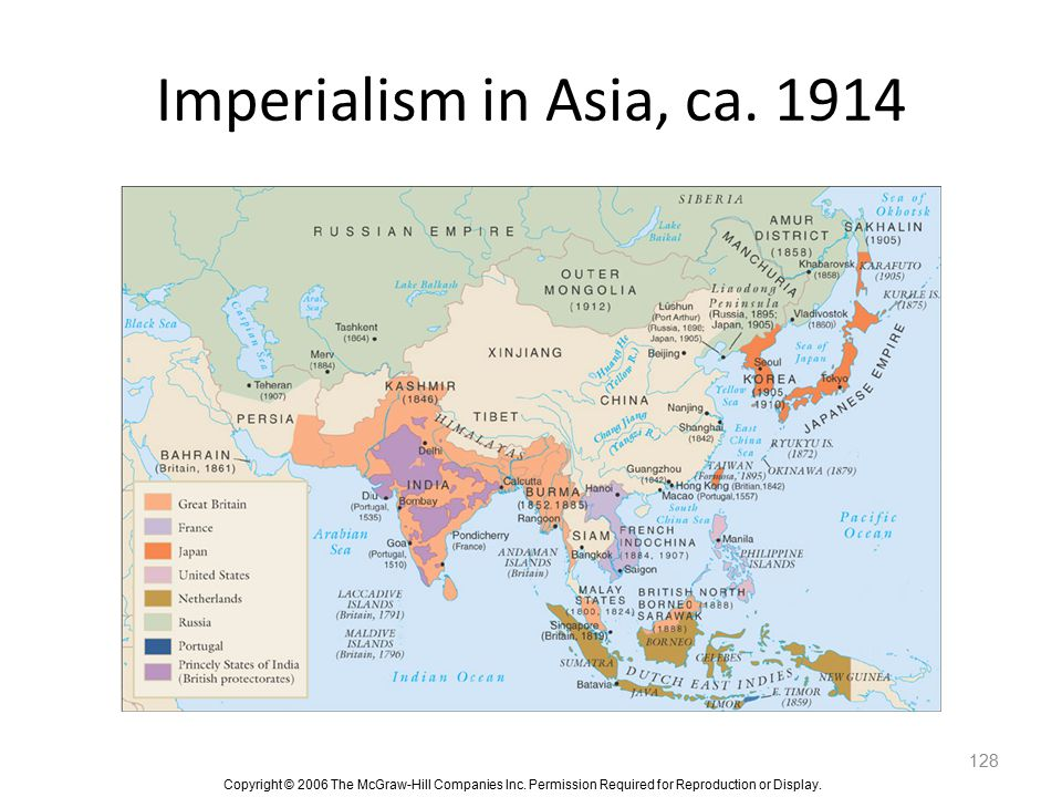 Imperialism in Asia, ca. 1914