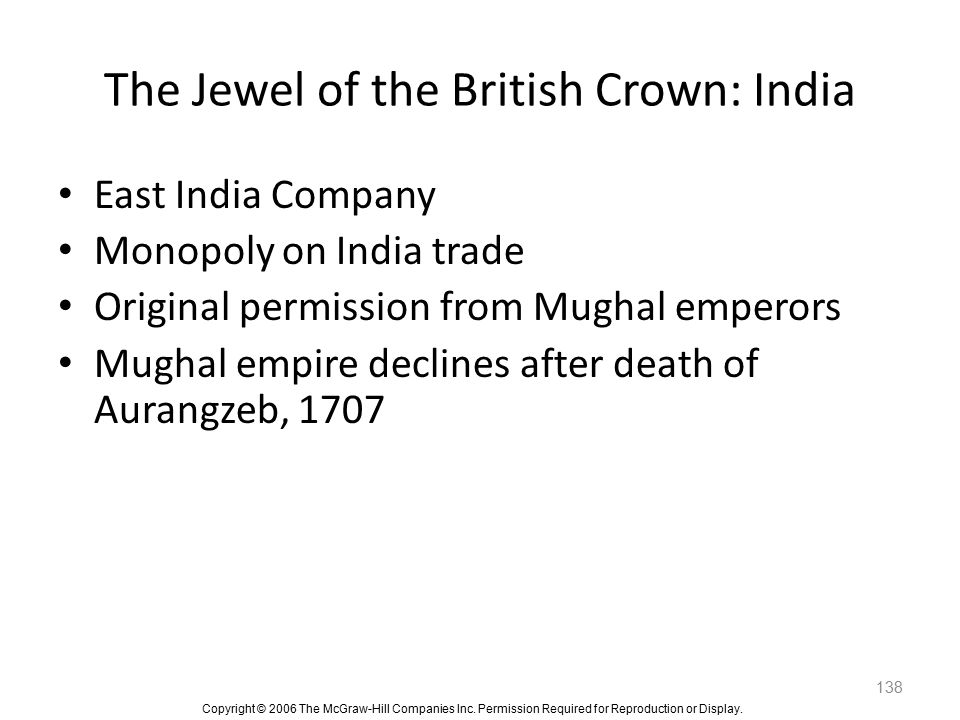 The Jewel of the British Crown: India