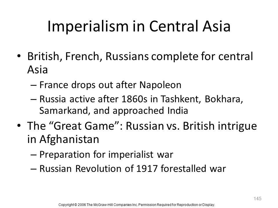 Imperialism in Central Asia