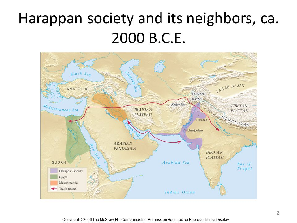 Harappan society and its neighbors, ca. 2000 B.C.E.