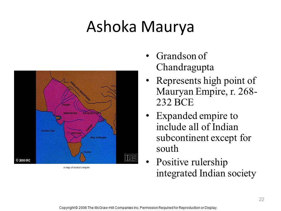 Ashoka Maurya Grandson of Chandragupta
