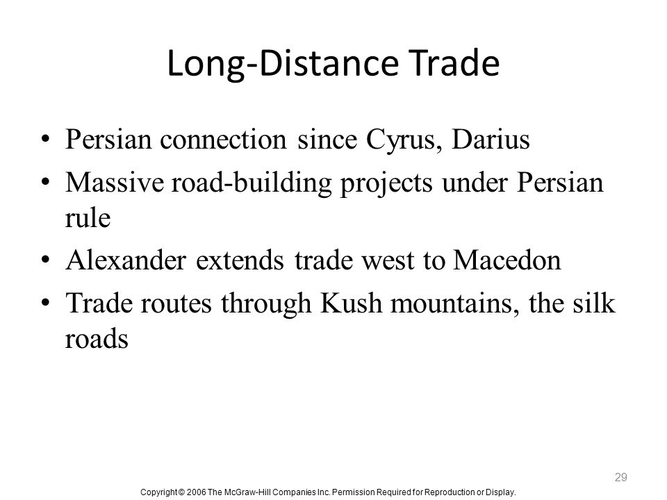 Long-Distance Trade Persian connection since Cyrus, Darius
