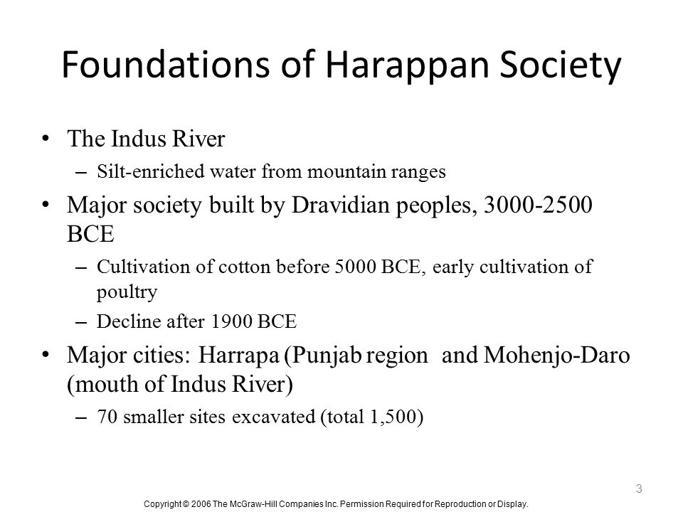 Foundations of Harappan Society