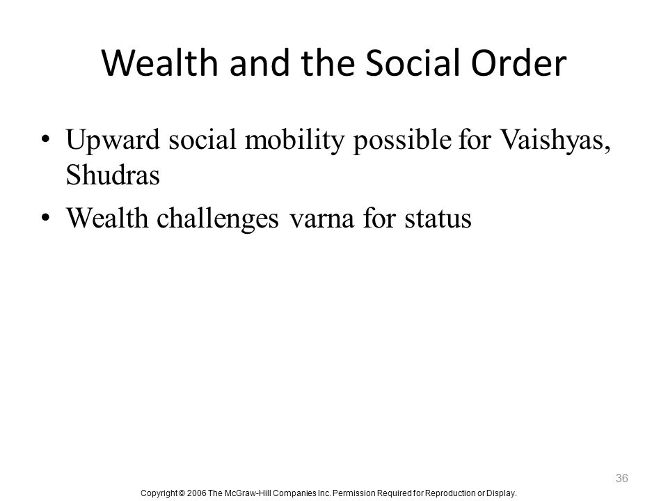 Wealth and the Social Order