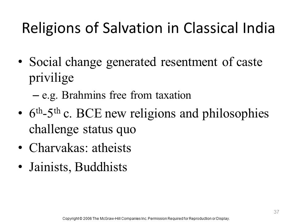 Religions of Salvation in Classical India
