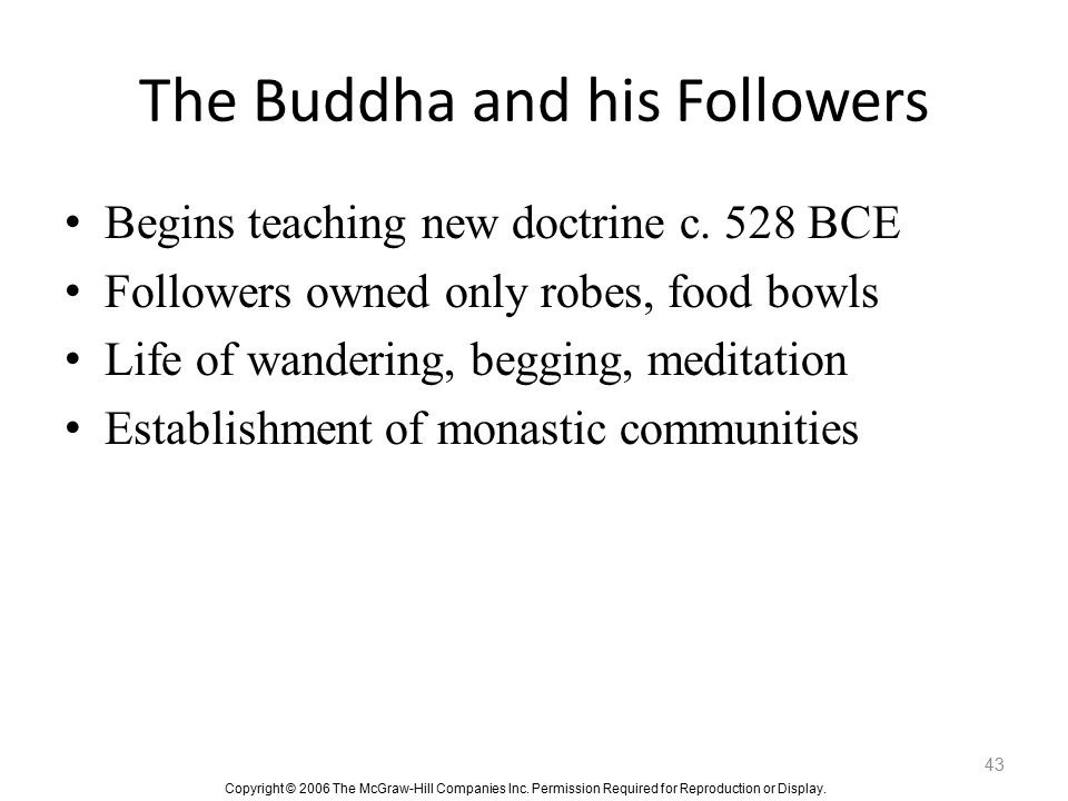 The Buddha and his Followers