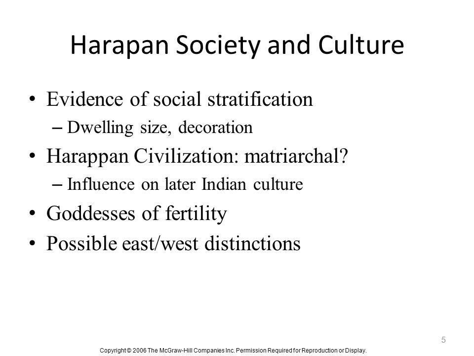 Harapan Society and Culture