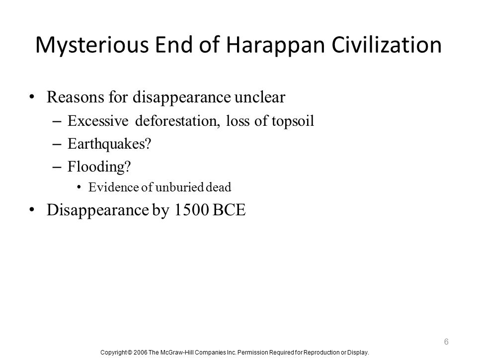 Mysterious End of Harappan Civilization