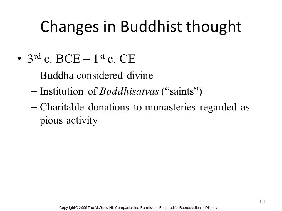 Changes in Buddhist thought
