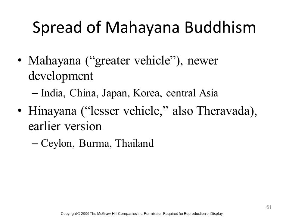 Spread of Mahayana Buddhism