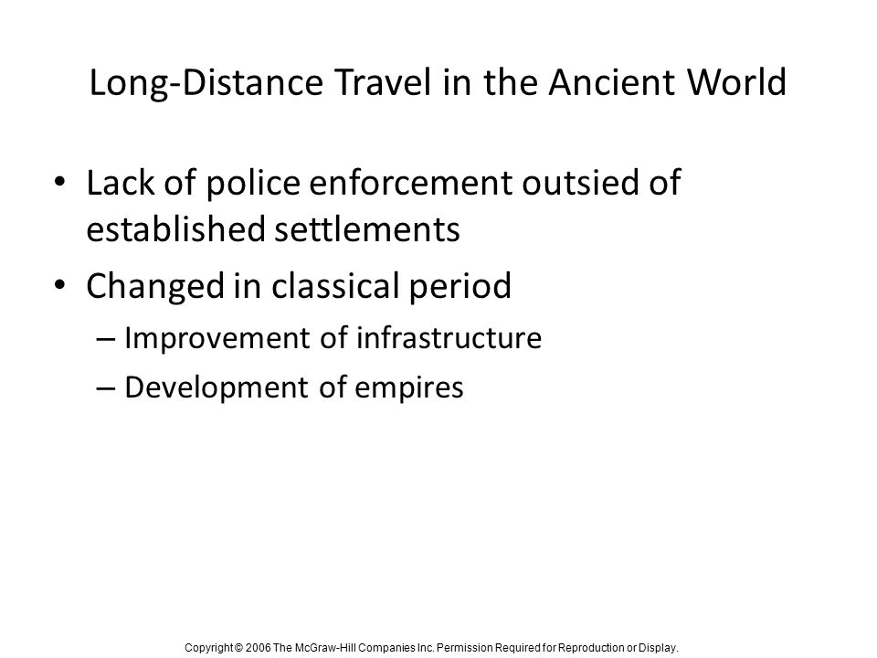 Long-Distance Travel in the Ancient World