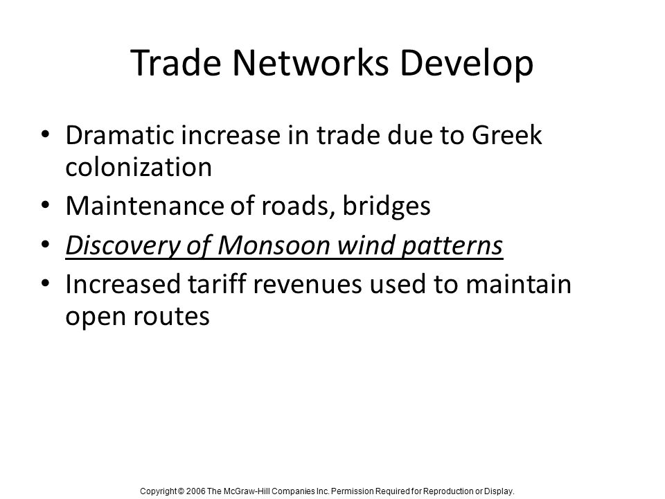 Trade Networks Develop