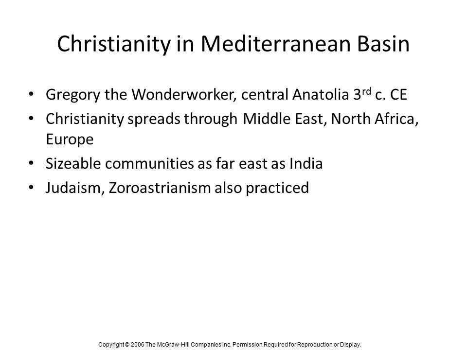 Christianity in Mediterranean Basin