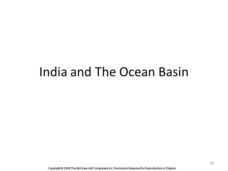 India and The Ocean Basin