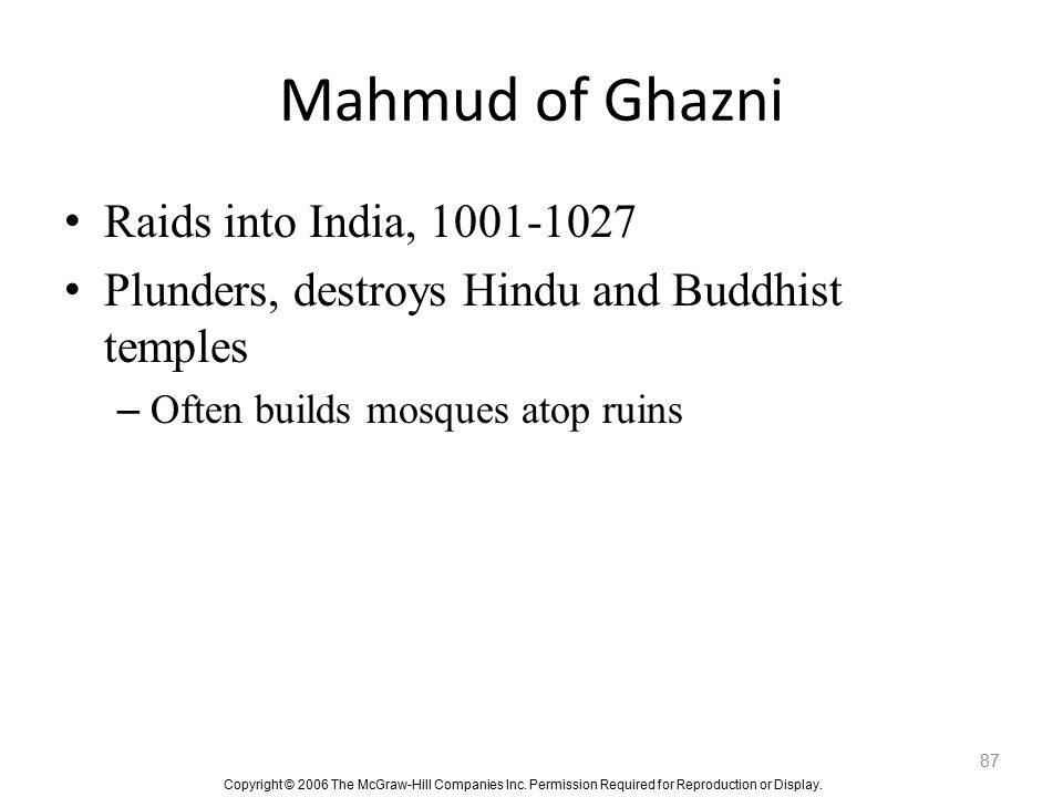 Mahmud of Ghazni Raids into India, 1001-1027