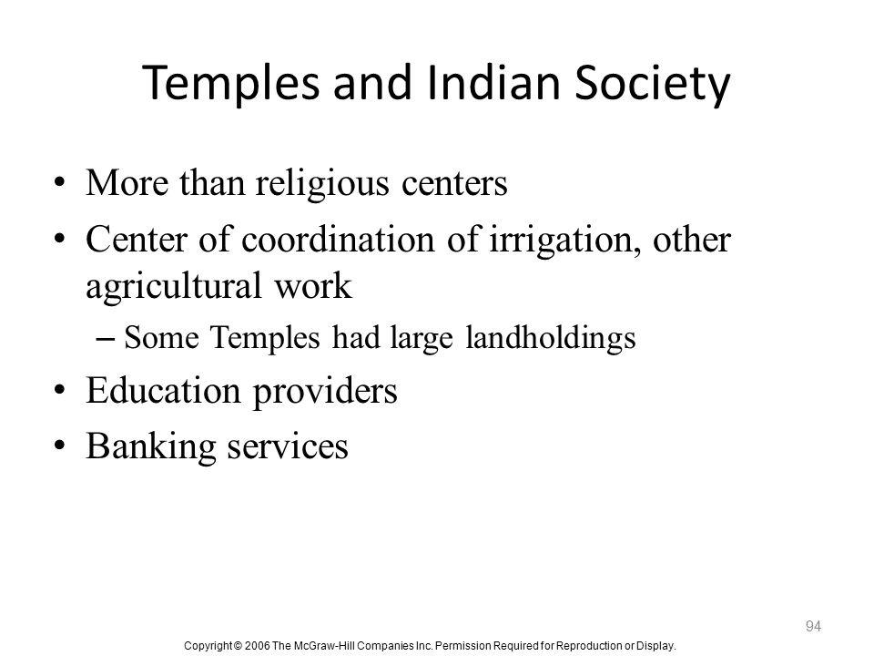 Temples and Indian Society