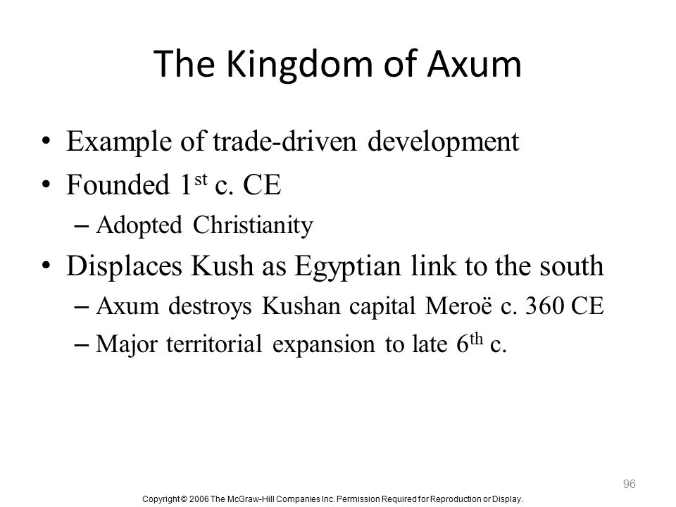 The Kingdom of Axum Example of trade-driven development