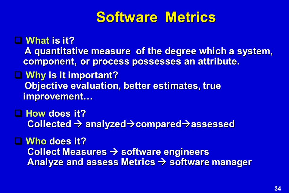 Software Metrics What is it