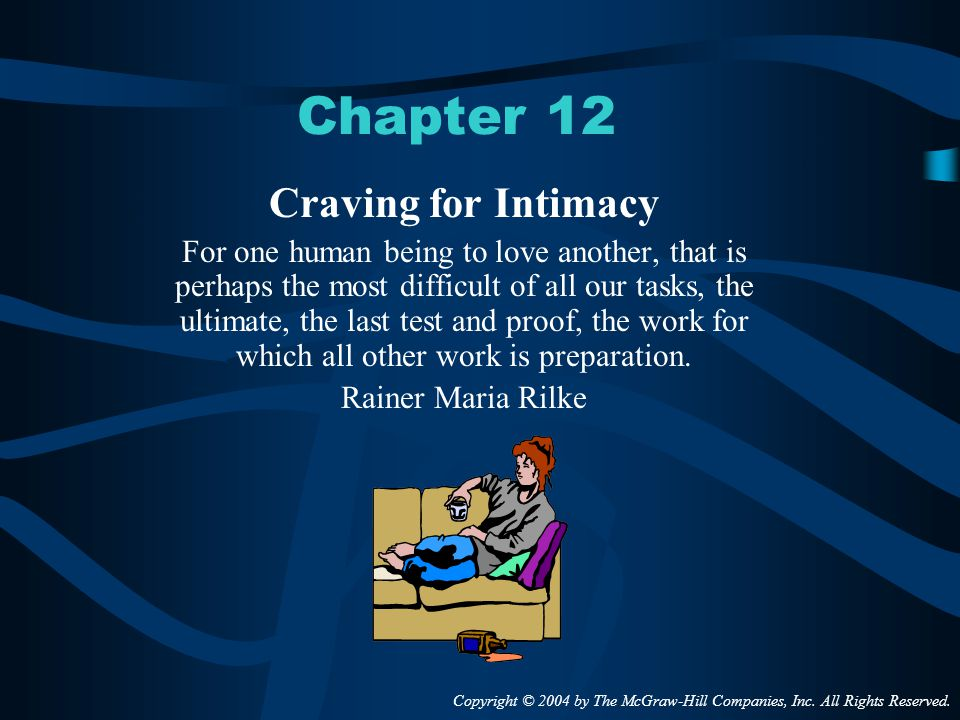 Chapter 12 Craving for Intimacy