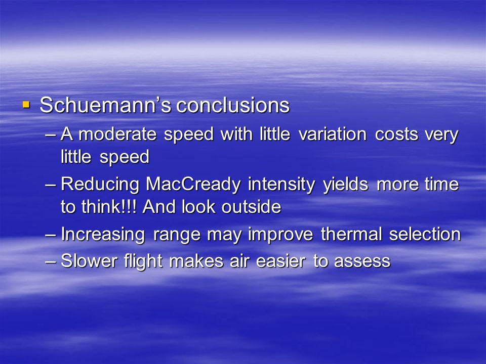 Schuemann's conclusions