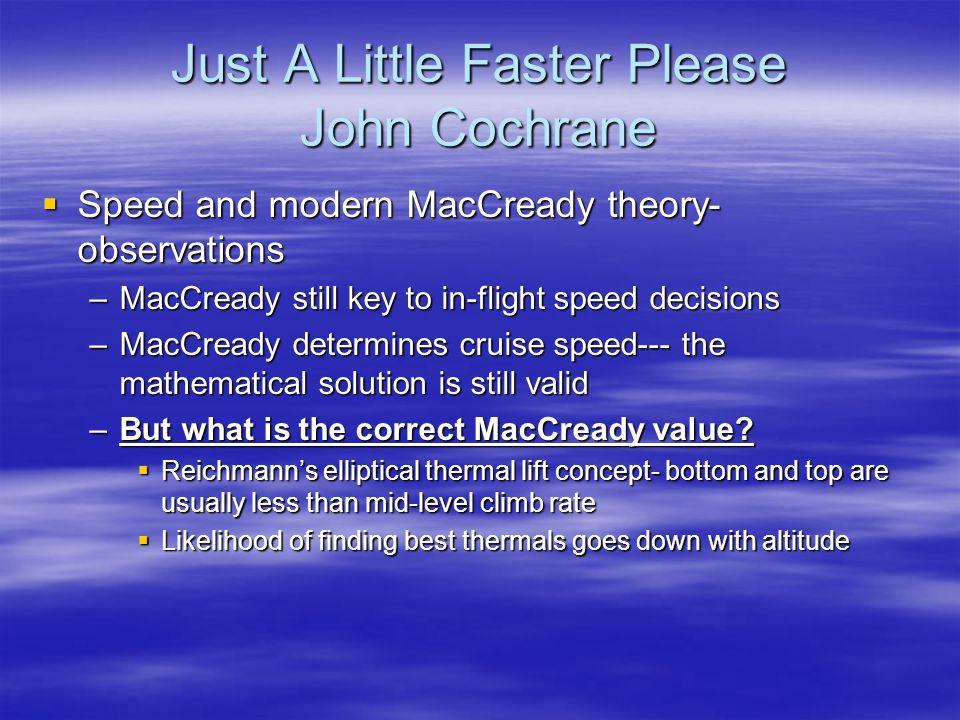Just A Little Faster Please John Cochrane