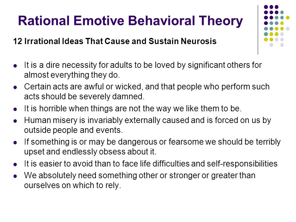 Rational Emotive Behavioral Theory