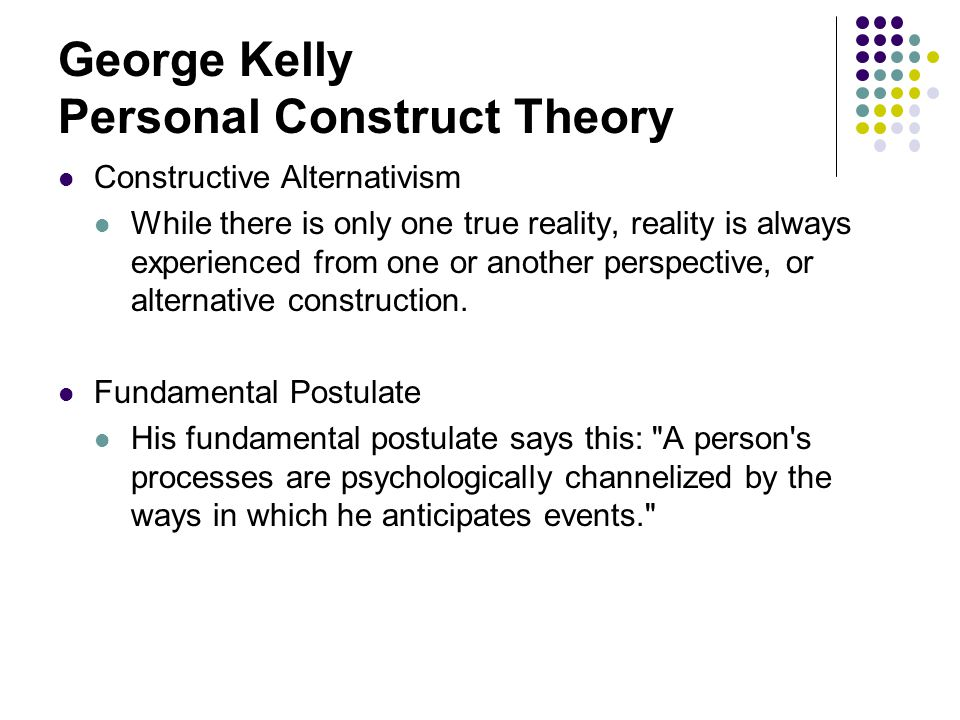 George kelly constructs
